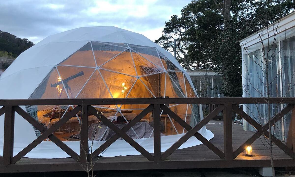 ウフフビレッジのドームテント客室
