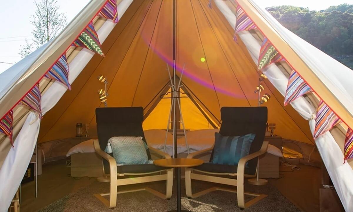 ウフフビレッジのテント客室