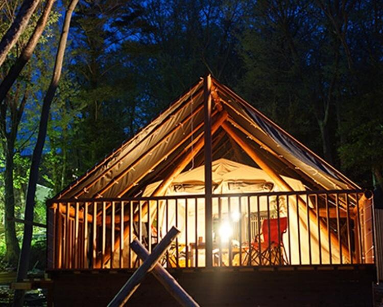 マヒナ・グランピング・スパ・ヴィレッジ テント写真