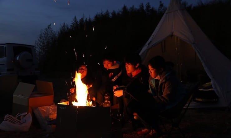 Ocean's Camp TORAMII-ichinomiyaで焚火体験