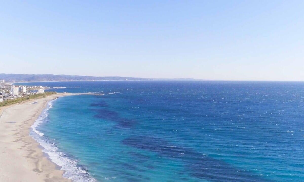 ちくらつなぐホテルの近くの海