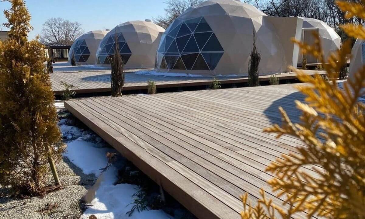 関東のおすすめグランピング施設那須ハミルの森の全体写真