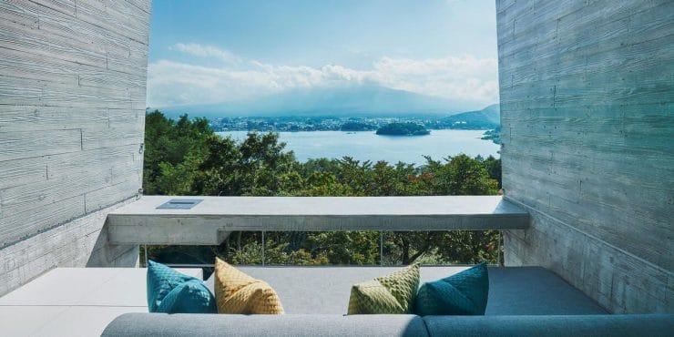 星のや富士の客室からの眺望