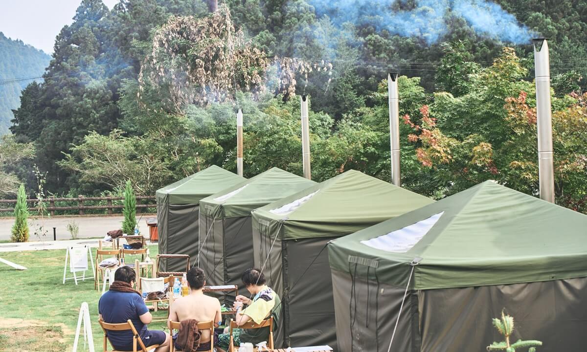 ノーラ名栗のテントサウナの風景